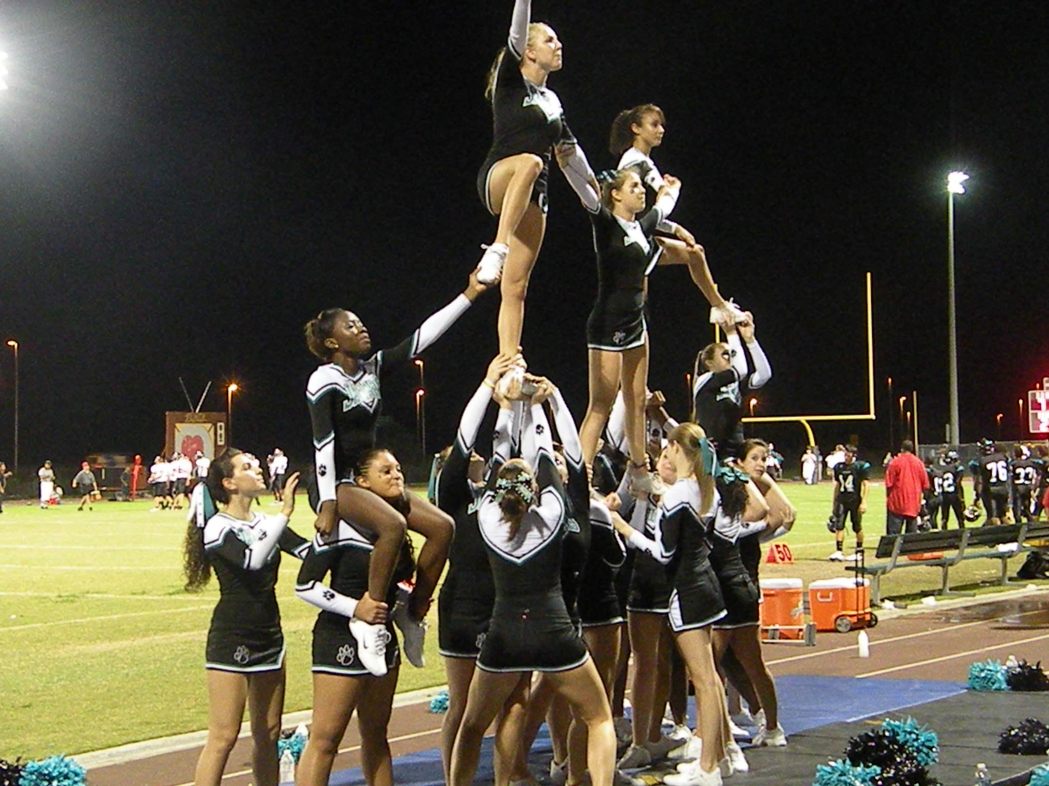 Pictures high school cheerleading stunts Pictures of Cheer Stunts LoveToKnow