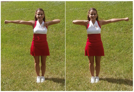 Cheerleading Motion Bow and Arrow
