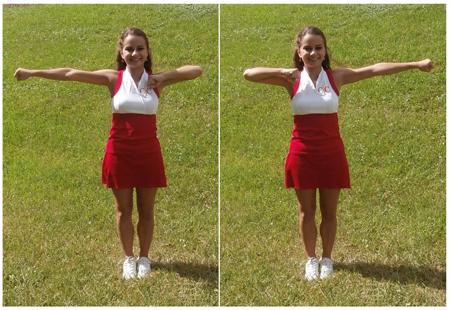 Cheerleading Motion Bow and Arrow