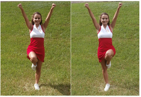 Cheerleading Foot Motions - Liberty