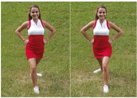 Cheerleading Foot Motions - Front Lunge