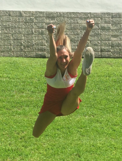 How to do a Cheerleading Front Hurdler Jump