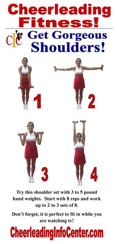 Shoulder Exercises for Cheerleaders