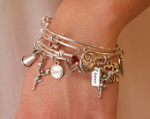 Cheerleading Bangle Bracelet Set