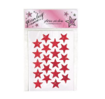 Cheerleading Glitter Star Face Stickers