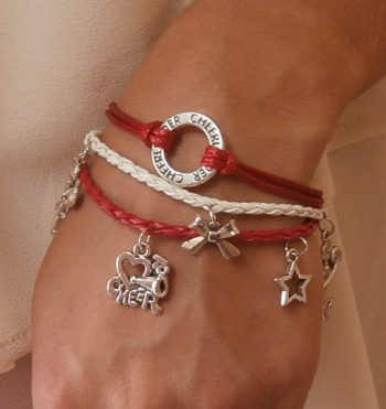 Cheerleading Bracelet Set