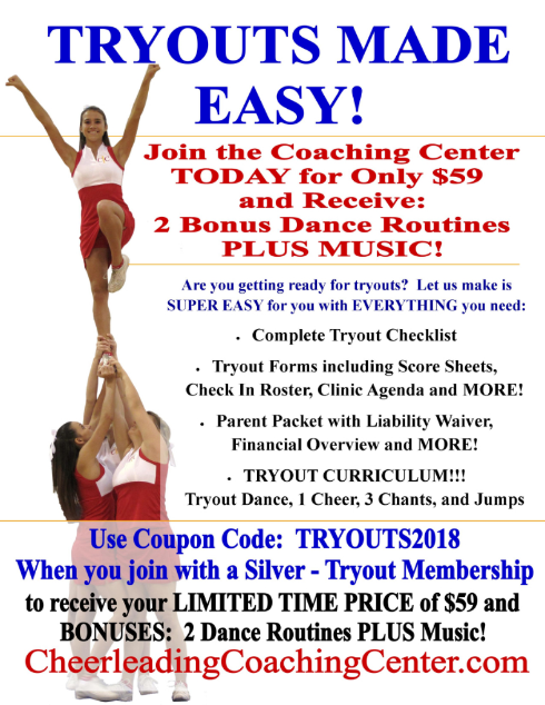 Cheerleading Tryouts Made EASY