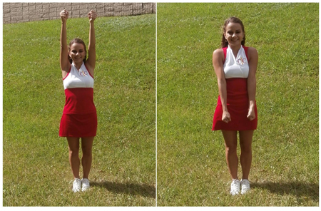 Cheerleading Motions High Touchdown