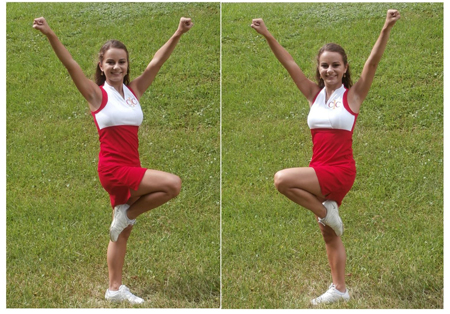 Cheerleading Foot Motions - Scale