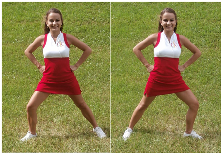 Cheerleading Foot Motions - Side Lunges