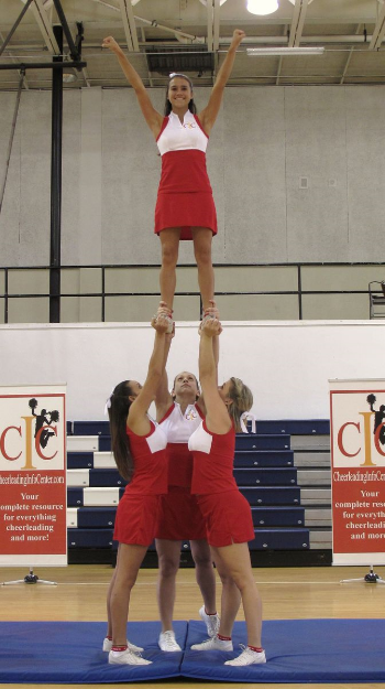 ground up full extension cheerleading stunt