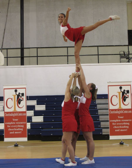 Cheerleading Arabesque Stunt