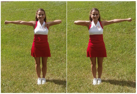 How to Do Cheerleading Motions Bow and Arrow