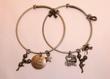 Cheerleading Charm Bracelets