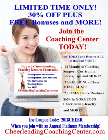 Cheerleading Coaching Center Membership Details