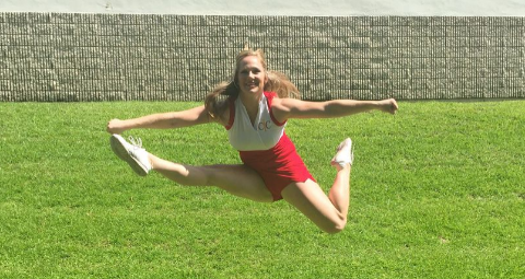 Herkey Cheerleading Jump