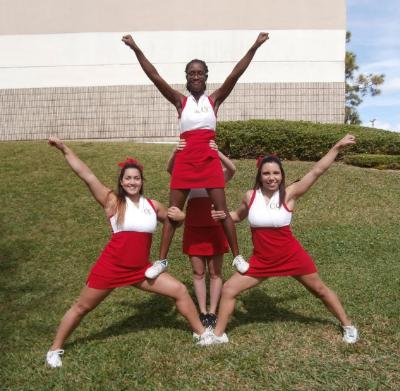 Beginning Cheerleading Stunts Double Thigh Stand