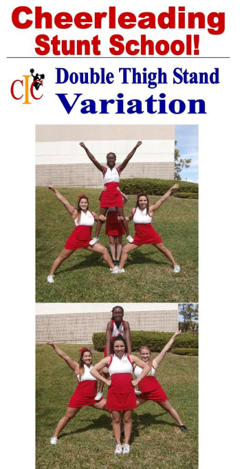 Cheerleading Beginner Stunt Double Thigh Variation