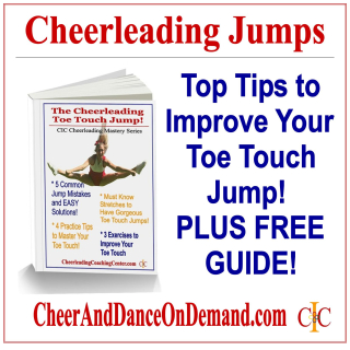 Cheerleading Jump Toe Touch Tips